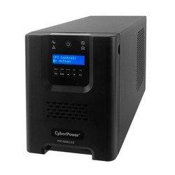 Источник бесперебойного питания CyberPower PR 1500 LCD (PR1500ELCD) (черный) - Источник бесперебойного питания, ИБПИсточники бесперебойного питания<br>CyberPower PR1500ELCD – это высококачественный ИБП от CyberPower мощностью 1350Вт. Предназначен для электроснабжения подключенных устройств корпоративного использования при отключении сетевого питания. При этом, может выступать в качестве стабилизатора сетевого напряжения (AVR). Выходная форма сигнала – синусоида. Топология – линейно-интерактивный. Время работы устройства – до 17 минут при половинной нагрузке. Время переключения на батареи – 4 мс.