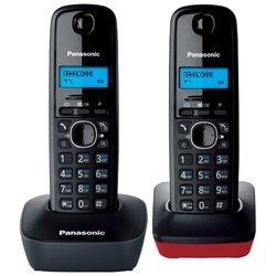 Panasonic KX-TG1612RU3 (черный/красный) - Радиотелефон