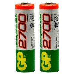 Аккумуляторная батарея AA (GP 270AAHC-UC4) (2700 мАч, 4 шт) - Батарейка, аккумуляторБатарейки и аккумуляторы<br>Благодаря аккумуляторам, Ваш фотоаппарат или любое другое устройство проработает дольше и не подведет в самый нужный момент.