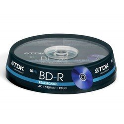 Диск BD-R TDK 25Gb 4x Cake Box (10 шт) (t78088)