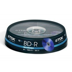 Диск BD-R TDK 25Gb 6x Cake Box (10 шт) (t78082)
