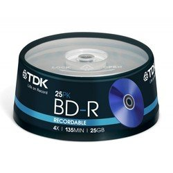 Диск BD-R TDK 25Gb 4x Cake Box (25 шт) (t78301)