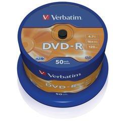 Диск DVD-R Verbatim 4.7Gb 16x Cake Box (50 шт) (43548) - CD, BD дискCD, BD диски<br>DVD-R Verbatim -  это записываемые диски емкостью 4.7 Гб. В дисках Verbatim DVD-R используется технология MKM, обеспечивающая непревзойденное качество записи. Диски этого формата соответствует спецификациям DVD-Forum.