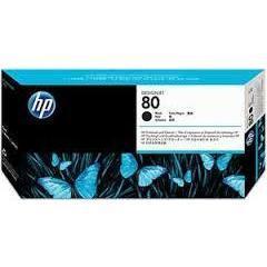 Печатающая головка + очиститель для HP Designjet 1050c, 1050c plus, 1055 (C4820A №80) (черный)  - Картридж для принтера, МФУКартриджи<br>Совместима с моделями: HP Designjet 1050c, HP Designjet 1050c plus, HP Designjet 1055.