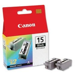 Картридж для Canon Bubble Jet i70, i80 (8190A002 BCI-15) (черный) (2 шт)  - Картридж для принтера, МФУКартриджи<br>Совместим с моделями: Canon Bubble Jet i70, Canon Bubble Jet i80.