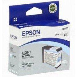 Картридж для Epson Stylus Pro 3800, 3880 (EPT580500) (светло-голубой) - Картридж для принтера, МФУКартриджи<br>Совместим с моделями: Epson Stylus Pro 3800, 3880.