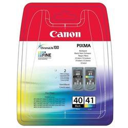Набор картриджей для Canon PIXMA MP450, MP170, MP150, iP2200, iP1600, iP6220D, iP6210D, iP22 (PG-40/CL-41 0615B043) (черный и цветной)  - Картридж для принтера, МФУКартриджи<br>Совместим с моделями: Canon Pixma iP1200, iP1300, iP1600, iP1700, iP1800, iP1900, iP2200, iP2500, iP2600, MP140, MP150, MP160, MP170, MP180, MP190, MP210, MP220, MP450, MP460, MX300 MX310