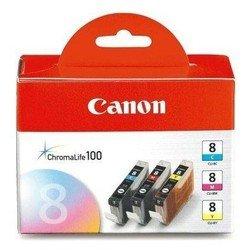Набор картриджей для Canon iP4200, iP5200, MP500, MP800, iP3300, iP4300, iP5300, MP800, MP830, MP530, MP510, MP600, MP810, MP520, MP470, MX850, MX700, iX5000, iX4000, iP6600D, MP970, Pixma Pro9000, Pro9000 Mark II (0621B029 CLI-8C/M/Y) (многоцветный) - Картридж для принтера, МФУКартриджи<br>Совместим с моделями: Canon iP4200, iP5200, MP500, MP800, iP3300, iP4300, iP5300, MP800, MP830, MP530, MP510, MP600, MP810, MP520, MP470, MX850, MX700, iX5000, iX4000, iP6600D, iP6700D, iP3500, MP970, Pixma Pro9000, Pro9000 Mark II.