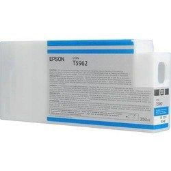 Картридж для Epson Stylus Pro 7700, 7890, 7900, 9700, 9890, 9900 (C13T596200 №T5962) (голубой) (350 мл) - Картридж для принтера, МФУ