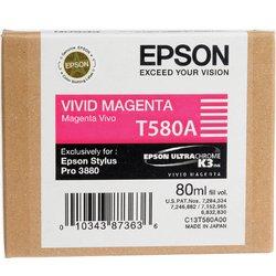 Картридж для Epson Stylus Pro 3800, 3880 (C13T580A00 №T580A) (пурпурный) (80 мл) - Картридж для принтера, МФУКартриджи<br>Совместим с моделями: Epson Stylus Pro 3800, 3880.