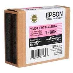 Картридж для Epson Stylus Pro 3800, 3880 (C13T580B00 №T580B) (светло-пурпурный) (80 мл) - Картридж для принтера, МФУКартриджи<br>Совместим с моделями: Epson Stylus Pro 3800, 3880.