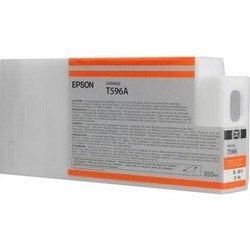 Картридж для Epson Stylus Pro 7700, 7890, 7900, 9700, 9890, 9900 (C13T596A00 №T596A) (оранжевый) (350 мл) - Картридж для принтера, МФУ