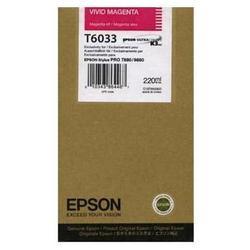 Картридж для Epson Stylus Pro 7800, 9800, 7880, 9880 (C13T603300 №T6033) (пурпурный) (220 мл) - Картридж для принтера, МФУКартриджи<br>Совместим с моделями: Epson Stylus Pro 7800, Epson Stylus Pro 9800, Epson Stylus Pro 7880, Epson Stylus Pro 9880.