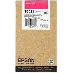 Картридж для Epson Stylus Pro 7800, 9800 (C13T603B00 №T603B) (пурпурный) (220 мл) - Картридж для принтера, МФУКартриджи<br>Совместим с моделями: Epson Stylus Pro 7800, Epson Stylus Pro 9800.