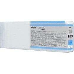 Картридж для Epson Stylus Pro 7700, 7890, 7900, 9700, 9890, 9900 (C13T636500 №T6365) (светло-голубой) (700 мл) - Картридж для принтера, МФУКартриджи<br>Совместим с моделями: Epson Stylus Pro 7700, 7890, 7900, 9700, 9890, 9900