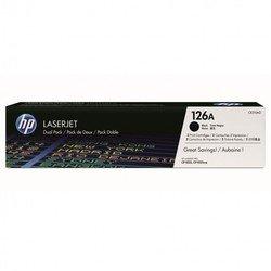 Тонер-картридж для HP Color LaserJet Pro CP1025, CP1025nw (CE310AD №126A) (черный) (2 шт)  - Картридж для принтера, МФУКартриджи<br>Совместим с моделями: HP Color LaserJet Pro CP1025, HP Color LaserJet Pro CP1025nw.