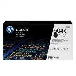 Тонер-картридж для HP Color LaserJet CM3530, CP3525 (CE250XD №504X) (черный) (2 шт) - Картридж для принтера, МФУКартриджи<br>Совместим с моделями: HP Color LaserJet CM3530, HP Color LaserJet CP3525.