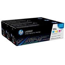 Набор картриджей для HP Color LaserJet CP1215, CP1518ni, CP1515n, CM1312, CP1518n (CF373AM №125A) (пурпурный, желтый, голубой) - Картридж для принтера, МФУ