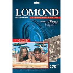 Фотобумага суперглянцевая A4 (20 листов) (Lomond 1106100)  - БумагаОбычная, фотобумага, термобумага для принтеров<br>Предназначена для печати цифровых фотографий с максимальным разрешением.