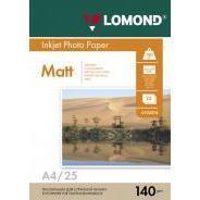 Фотобумага матовая A4 (25 листов) (Lomond 0102073)  - БумагаОбычная, фотобумага, термобумага для принтеров<br>Предназначена для печати цифровых фотографий с максимальным разрешением.