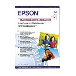 Фотобумага глянцевая A3 (20 листов) (Epson C13S041315)  - БумагаОбычная, фотобумага, термобумага для принтеров<br>Фотобумага предназначена для высококачественной печати с максимальным разрешением.