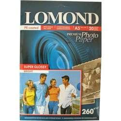 Фотобумага суперглянцевая A5 (20 листов) (Lomond 1103104)  - БумагаОбычная, фотобумага, термобумага для принтеров<br>Предназначена для печати цифровых фотографий с максимальным разрешением.