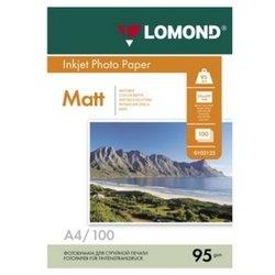 Фотобумага матовая A4 (100 листов) (Lomond 0102125)  - БумагаОбычная, фотобумага, термобумага для принтеров<br>Предназначена для печати цифровых фотографий с максимальным разрешением.