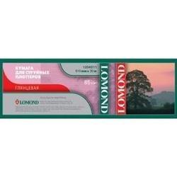 Бумага глянцевая (610 мм х 45 м) (Lomond 1204011)  - БумагаОбычная, фотобумага, термобумага для принтеров<br>Предназначена для печати водорастворимыми и пигментными чернилами.