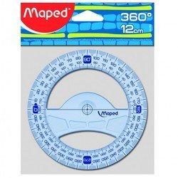 Транспортир Maped Geometric 360° основание 12см высококачественная градуировка - УФ чернила - ЛинейкаЛинейки<br>Вес (кг) 0.02, Объем (м3) 0.00016