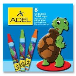 Мелки масляной пастели Adel 228-0811-000 круглые 10мм 8 цветов картонная  - Цветной карандашЦветные карандаши<br>Вес (кг) 0.003, Объем (м3) 1.0E-5