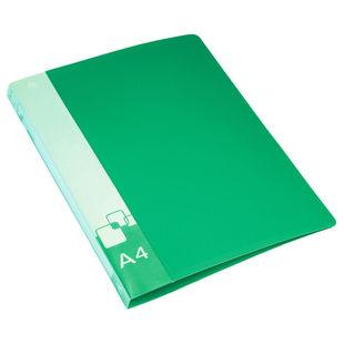 Папка на 2-х кольцах Бюрократ 0812/2Rgrn А4 0.8мм кор 40мм вн. карм торц. карм с бум. встав. зеленый - Папка на 2-х кольцахПапки на 2-х кольцах<br>Вес (кг) 0.18, Объем (м3) 0.00149