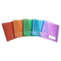 Папка на 2-х кольцах А4, пластик 0.5 мм, корешок 27 мм (Бюрократ CRYSTAL CR0527/2R) (ассорти) - Папка на 2-х кольцахПапки на 2-х кольцах<br>Папка на 2-х кольцах подходит для документов формата А4, выполнена из качественного пластика толщиной 0.5 мм, корешок 27 мм.