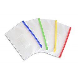 Папка на молнии ZIP Бюрократ BPM5A (желтая) - Папка на молнииПапки на молнии<br>Папка на молнии ZIP Бюрократ BPM5A - А5, карман под визитку, ПП пластик 0.15мм