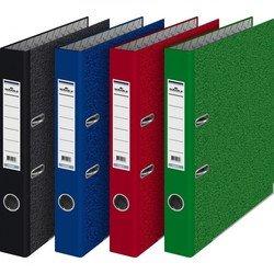 Папка-регистратор Durable 3410-32 (цветной мрамор, зеленый) - Папка-регистраторПапки-регистраторы<br>Папка-регистратор Durable формата А4, 70 мм, картонная, мрамор