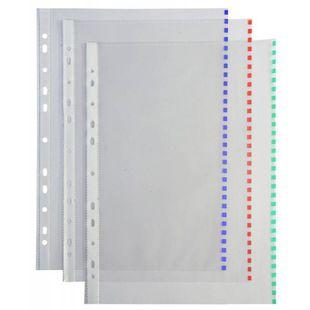 Папка-вкладыш Бюрократ Премиум 013BKColor глянцевый А4+ 30мкм цветной край ассорти (50шт) - ФайлФайлы и папки<br>Вес (кг) 0.183, Объем (м3) 0.00036