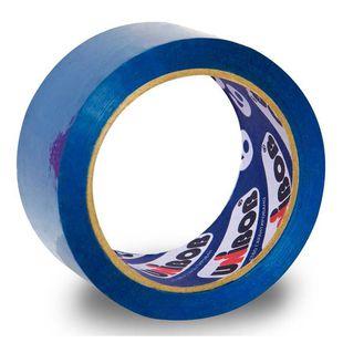 Клейкая лента Unibob 600 цветная 48мм*66м синяя (41157) - Клейкая лентаКлейкая лента<br>Вес (кг) 0.16, Объем (м3) 0.00052