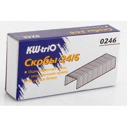 Скобы KW-trio 0246 24/6 для степлера 1000шт картонная  - СкобыСкобы<br>Вес (кг) 0.048, Объем (м3) 5.0E-5