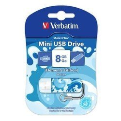 Verbatim Store n Go Mini 8Gb (ELEMENTS EDITION 98159) (Water)
