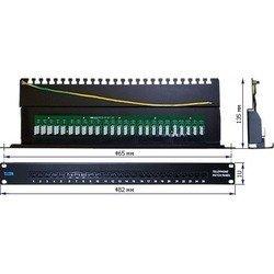 """Патч-панель телефонная 19"""", 25 портов RJ-45 (Lanmaster TWT-PP25TEL45) - КабельСетевые аксессуары<br>Патч-панель предназначена для терминации многопарных витопарных кабелей с целью организации телефонного поля коммутации по методу врезных контактов на блоки 110-ого типа."""