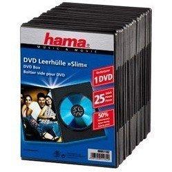 Коробка Hama H-51182 Slim для 1хDVD 25 шт (черный) - Альбом, коробка, стойка для CD, BD дискаАльбомы, коробки, стойки для CD, BD дисков<br>Hama H-51167 - коробка для DVD дисков, тип Slim. В комплекте 25 коробок, каждая рассчитана на 1 диск.