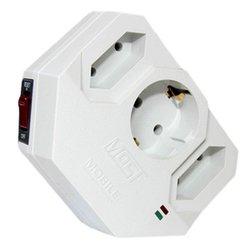 Сетевой фильтр Most MRG 0 (3 розетки) (белый) - Сетевой фильтрУдлинители и сетевые фильтры<br>Most MRG 0 - сетевой фильтр, позволяет подключить до 3 устройств. Выходные розетки с заземлением типа -1, выходные розетки типа  (плоские) -2.