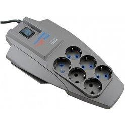 Сетевой фильтр Pilot X-Pro 7м (6 розеток) (серый) - Сетевой фильтрУдлинители и сетевые фильтры<br>Pilot X-Pro 7м - сетевой фильтр, позволяет подключить до 6 устройств. Длина шнура 7 метров. Входная вилка , выходные розетки с заземлением типа -6 шт.