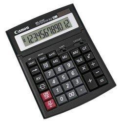Калькулятор Canon WS-1210T (черный) - КалькуляторКалькуляторы<br>Canon WS-1210T - дисплей 12 разрядов, крупные цифры и кнопки, операции с процентами, автоматическое отключение, двойное питание - батарея и солнечный элемент, клавиша quot;00quot;, вычисление квадратного корня, кнопка замены знака, регулируемый угол наклона дисплея.