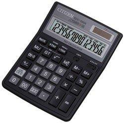 Калькулятор Citizen SDC-395N (черный)  - КалькуляторКалькуляторы<br>Citizen SDC-395N - дисплей 16 разрядов, крупные цифры и кнопки, операции с процентами, автоматическое отключение, вычисление квадратного корня, двойное питание - батарея и солнечный элемент, клавиша quot;00quot; и quot;000quot;, 2 ячейки памяти, функции запоминания.