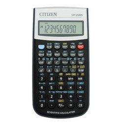 Калькулятор научный Citizen SR-260N (черный) - КалькуляторКалькуляторы<br>Citizen SR-260N - дисплей 12 разрядов, тип питания - батарейки, 165 функций и дополнений для решения расширенного круга задач, основные преобразования и арифметические функции, преобразование значений, возведение в квадрат и в степень (-1), вычисление квадратного корня и процентов, фиксация количества десятичных знаков, комплексные числа, число quot;Пиquot;, память прошлых действий: 1, сохранение данных в памяти, комбинации и перестановки, статистика изменения одной переменной, меры углов: градусы, радианы, грады, гиперболические функции, преобразования системы координат и угловые преобразования, десятичные преобразования мер времени, функции sin, cos, tan и обратные им.