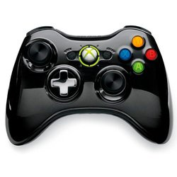 microsoft xbox 360 wireless controller chrome series (43g-00059) (черный)