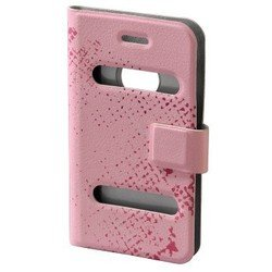 чехол-книжка для apple iphone 4, 4s (hama diary case h-103554) (розовый)