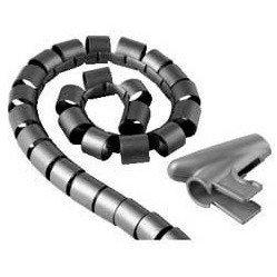 Кабель-органайзер (Hama H-20600) (2.5 м, серебристый) - КабельСетевые аксессуары<br>Предназначен для организации системы кабелей.