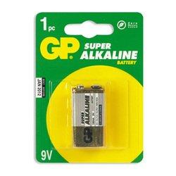 Алкалиновая батарейка PP3 (крона) (GP 1604A-BC1) (1 шт) - Батарейка, аккумуляторБатарейки и аккумуляторы<br>С батарейкой GP Ваше цифровое устройство проработает дольше и не подведет в самый ответственный момент.