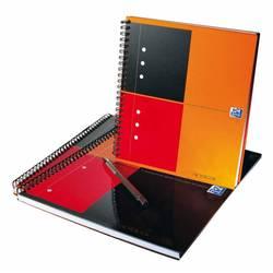 Тетрадь A5+ на спирали 80 л клетка (Oxford International Notebook) (100102680) - Блокнот, блок для записейБлокноты и блоки для записей<br>Тетрадь формата A5+, 80 листов, разлиновка страниц в клеточку, переплет на спирали, обложка из ламинированного картона, плотность 90 г/м2.